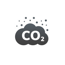 CO2 Emissions Vector Icon. Carbon Gas Cloud, Dioxide Pollution. Global Ecology Exhaust Emission Smog Concept