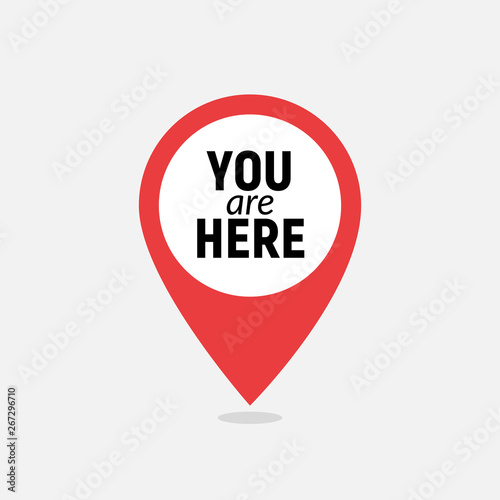 Fotografía  You are here sign icon mark