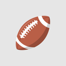 Rugby Ball Vector Icon. Footba...