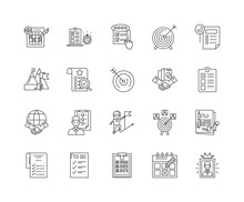 Done Line Icons, Linear Signs,...