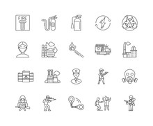 Emergency Line Icons, Linear Signs, Vector Set, Outline Concept Illustration