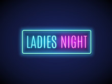 Neon Night Lady Fashion Invita...