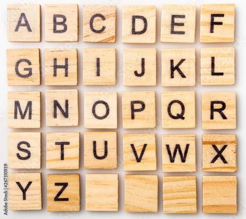 Fotografia Complete Scrabble letter English alphabet uppercase