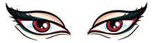Vampire Eyes Hand Drawn Design...