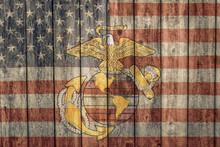 Vintage American Flag And Mari...