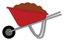 A Red Wheelbarrow , Vector Or ...