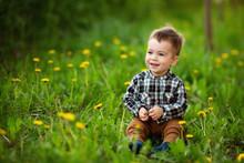Little Boy Sitting In The Flow...
