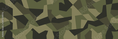 Fotomural  Vector geometric camouflage seamless pattern