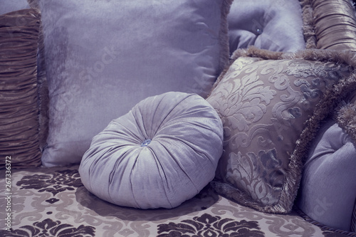 Canvas Prints Chicken The image of the pillow lying on the bed.