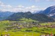 Panoramablick auf Pfronten mit dem Falkenstein