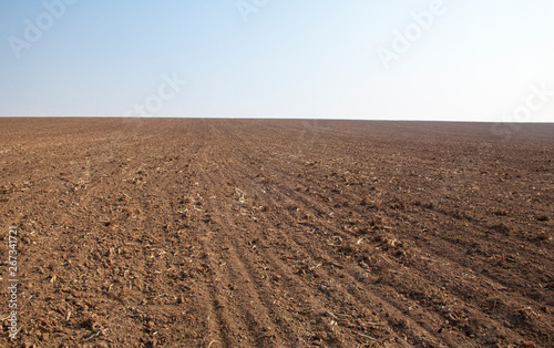 Photo  Ploughed field