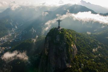 Rio de Janeiro, Brazil. Aerial view of Rio de Janeiro with Christ Redeemer