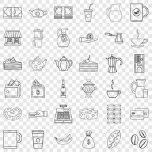 Cezve Icons Set. Outline Style Of 36 Cezve Vector Icons For Web For Any Design
