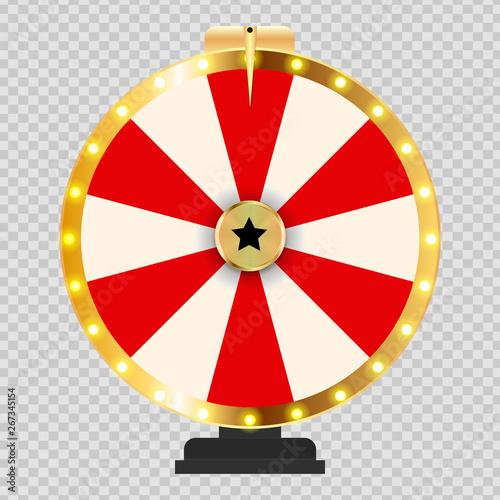Carta da parati Wheel of Fortune, Lucky background. Vector Illustration