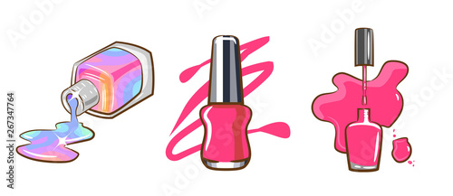 Fotografie, Tablou nail polish vector clipart graphic design