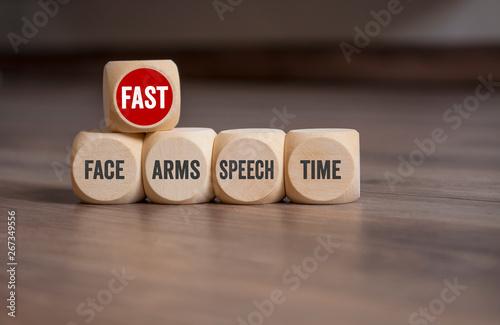 Fényképezés  FAST Test Face Arms Speech Time - Gesicht, Arme, Sprache, Zeit