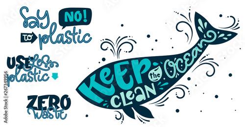 Eco friendly text set Fotobehang
