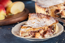 Homemade Apple Pie Tart With Cinnamon And Sugar