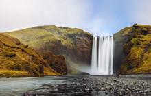 Skogafoss Waterfall Panorama I...