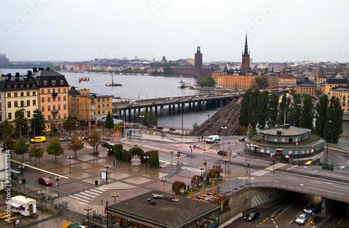 Foto auf AluDibond Stockholm Stockholm in the raining weather, Sweden