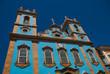 Leinwanddruck Bild SALVADOR, BRAZIL: The Largo do Pelourinho. Blue Catholic Church Nossa Senhora do Ros rio dos Pretos.