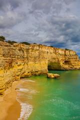 Fototapeta na wymiar marinha beach lagoa in Algarve Portugal
