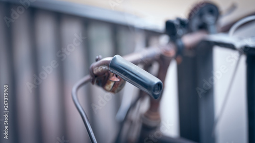 Garden Poster Bicycle Bicycle Handlebars Blurred Background