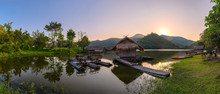 The Views Of The Hoob  Khong Wongreservoir (Pang Ung Suphan) Suphanburi In Thailand