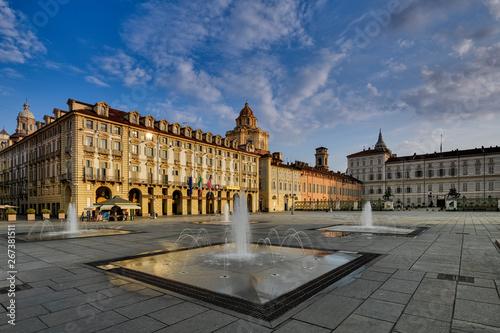 Piazza castello Fototapet