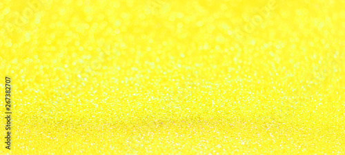 Tuinposter Bier / Cider Yellow glitter shiny texture background for christmas, Celebration concept.