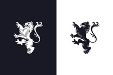 Rampant Heraldic Lion Design O...