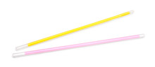 Neon Sticks For Bracelet On An Isolated White Background