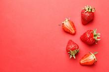 Ripe Juicy Strawberries On A R...