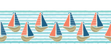 Cute Driftwood Sailboat On The...