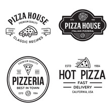 Set Of Pizza Logo, Badges, Ban...