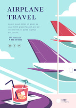 Airplane Travel Poster Layout