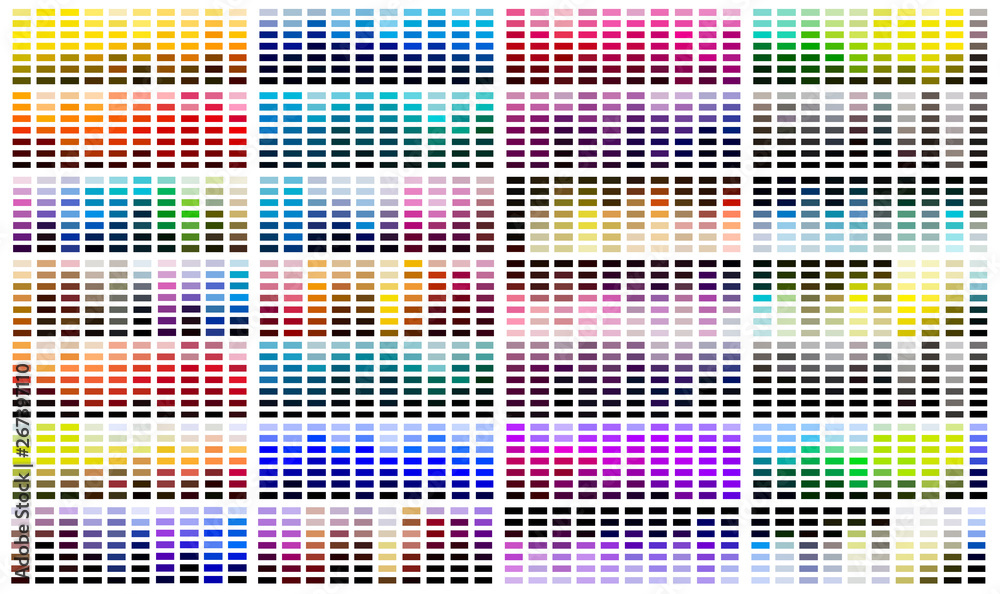 Fototapety, obrazy: Colour reference swatch palette