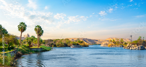 Tablou Canvas Panorama of Nile river
