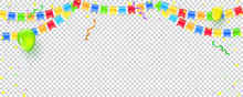 Banner With Streamers, Confett...