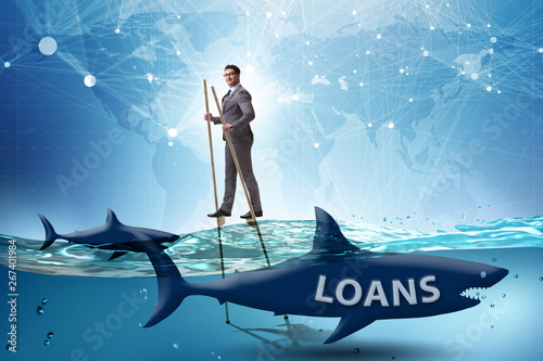 Fotografia, Obraz  Businessman successfully dealing with loans and debts