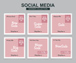 6 Slides modern Social Media banner Template. Promotional square web banner for social media. Banner template designs.