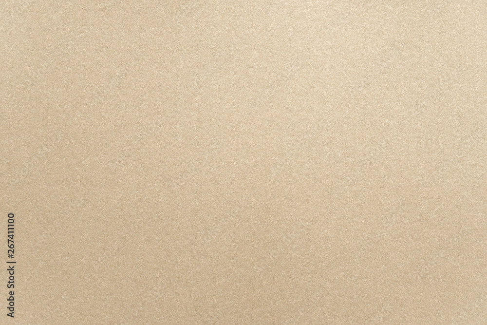 Fototapety, obrazy: Abstract beige glossy paper texture background or backdrop. Empty light brown cardboard or shiny paperboard for decorative design element. Simple grainy surface for journal template presentation
