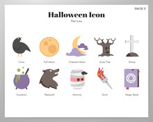 Halloween Icons Flat Pack