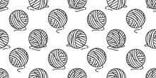 Yarn Ball Seamless Pattern Vec...