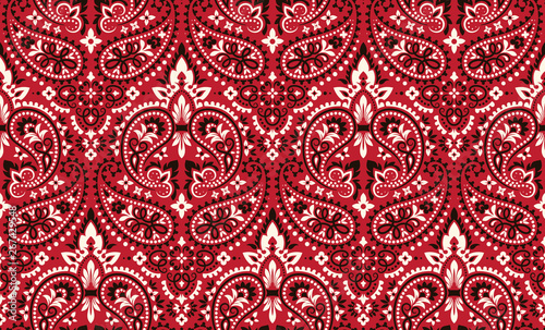 Obraz na plátne  Seamless pattern based on ornament paisley Bandana Print