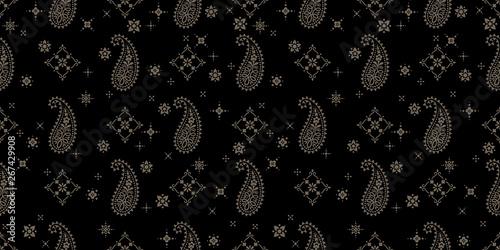 Canvas-taulu Seamless pattern based on ornament paisley Bandana Print