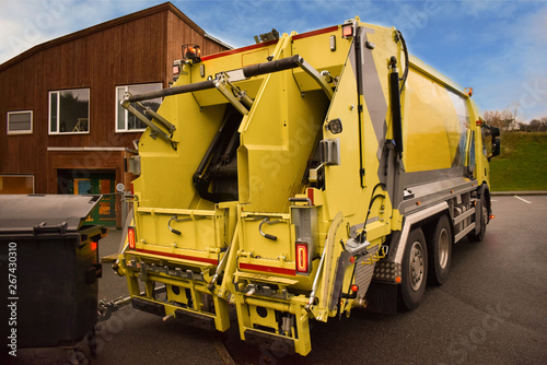 Fotografia, Obraz  Garbage removal. Garbage truck ready for loading.