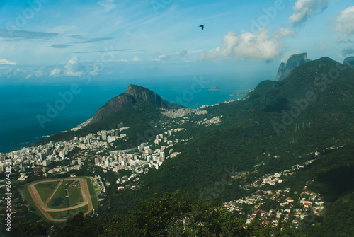 Photo  Panorama of Rio de Janeiro seen from Corcovado mountain in Rio de Janeiro, Brazi
