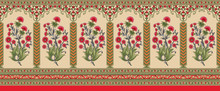 Indian Mughal Flower Border