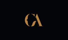 CA Logo Design Template Vector...
